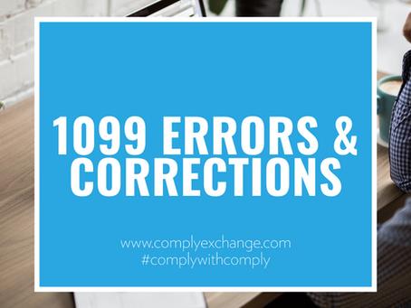 1099 Errors & Corrections