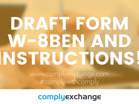 DRAFT Form W-8BEN and Instructions!
