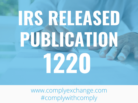 IRS Released the Publication 1220