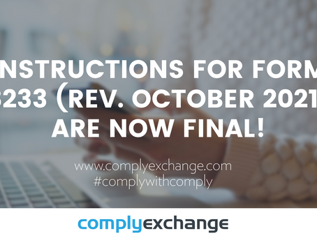 Instructions for Form 8233 (Rev. October 2021) are now final!