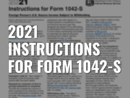 2021 Instructions for Form 1042-S