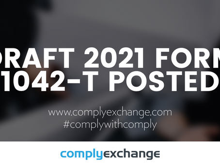 DRAFT 2021 Form 1042-T Posted!
