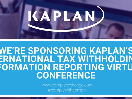 We're Sponsoring Kaplan's International Tax Withholding & Information Reporting Virtual Conference