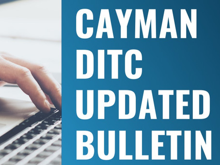 Cayman DITC Updates!