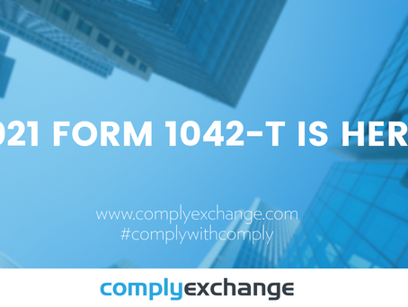 2021 Form 1042-T Is Here!
