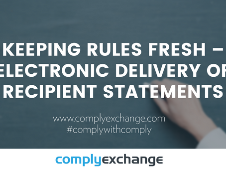 Keeping Rules Fresh – Electronic Delivery of Recipient Statements