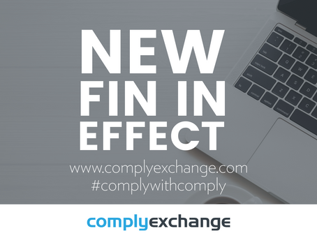 Attention UK Financial Institutions – the new FIN is in effect!