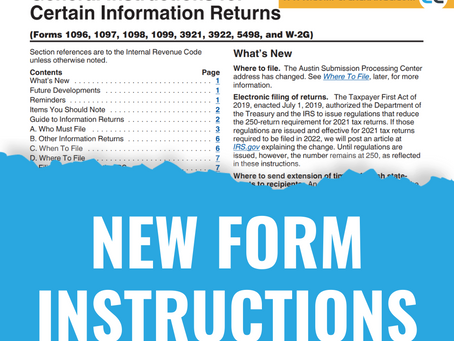 New Form Instructions 2021
