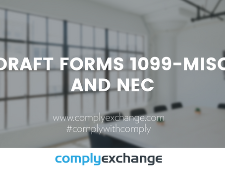 DRAFT Forms 1099-MISC and NEC