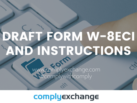 DRAFT Form W-8ECI And Instructions