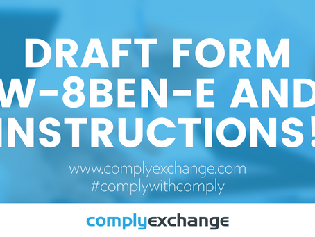 DRAFT Form W-8BEN-E and Instructions!