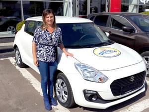 21-го сентября Валентина Цыкэу выиграла автомобиль SUZUKI Swift от сети магазинов ZOLUȘCA!