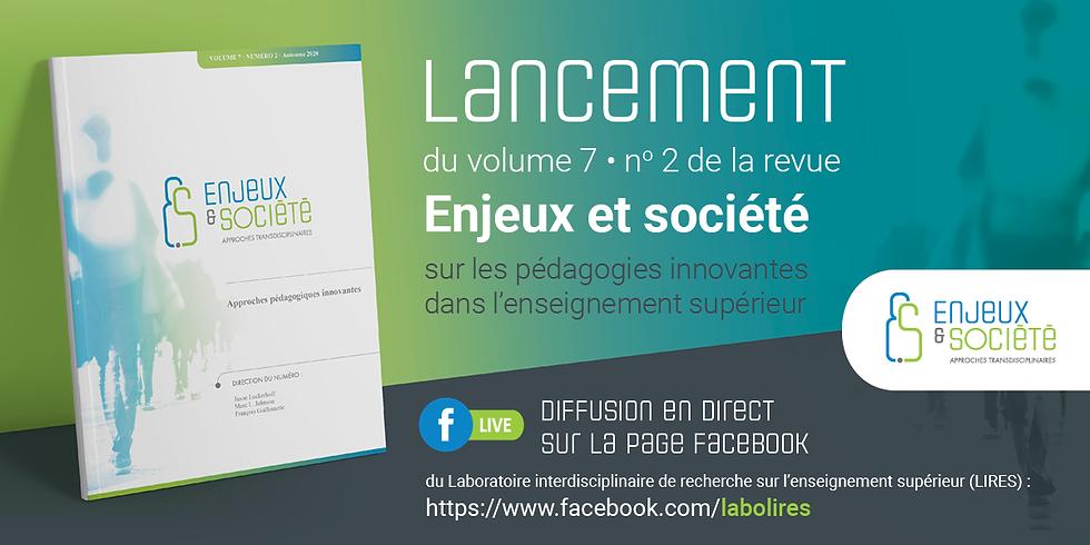 Lancement - revue Enjeux et société