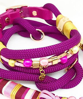 double rope collar with beads