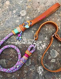 Retrieverleine mit Lederhalsung und Lederhandschlaufe