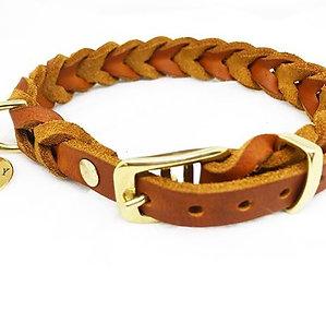 braided leathercollar: