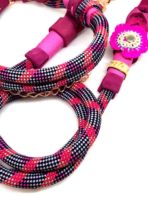 W&F Leine + doppeltgelegtes Halsband 40-45cm