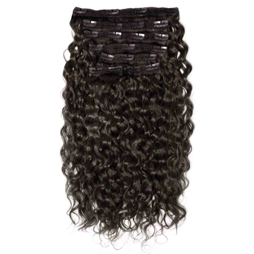 Natural Curly Clip On Hair Extensions