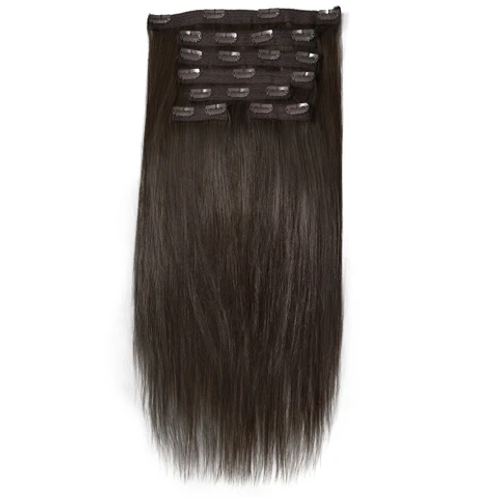 Natural Straight Clip On Hair Extensions