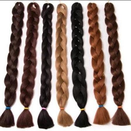 100% Premium Synthetic Yaki Hair Fiber.