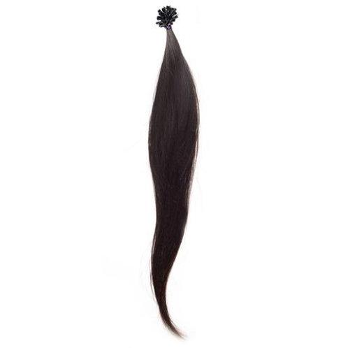 Straight I-Tip Keratin Adhesive Hair Extension.