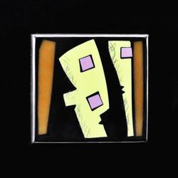 Broche, Petit tableau abstrait 3