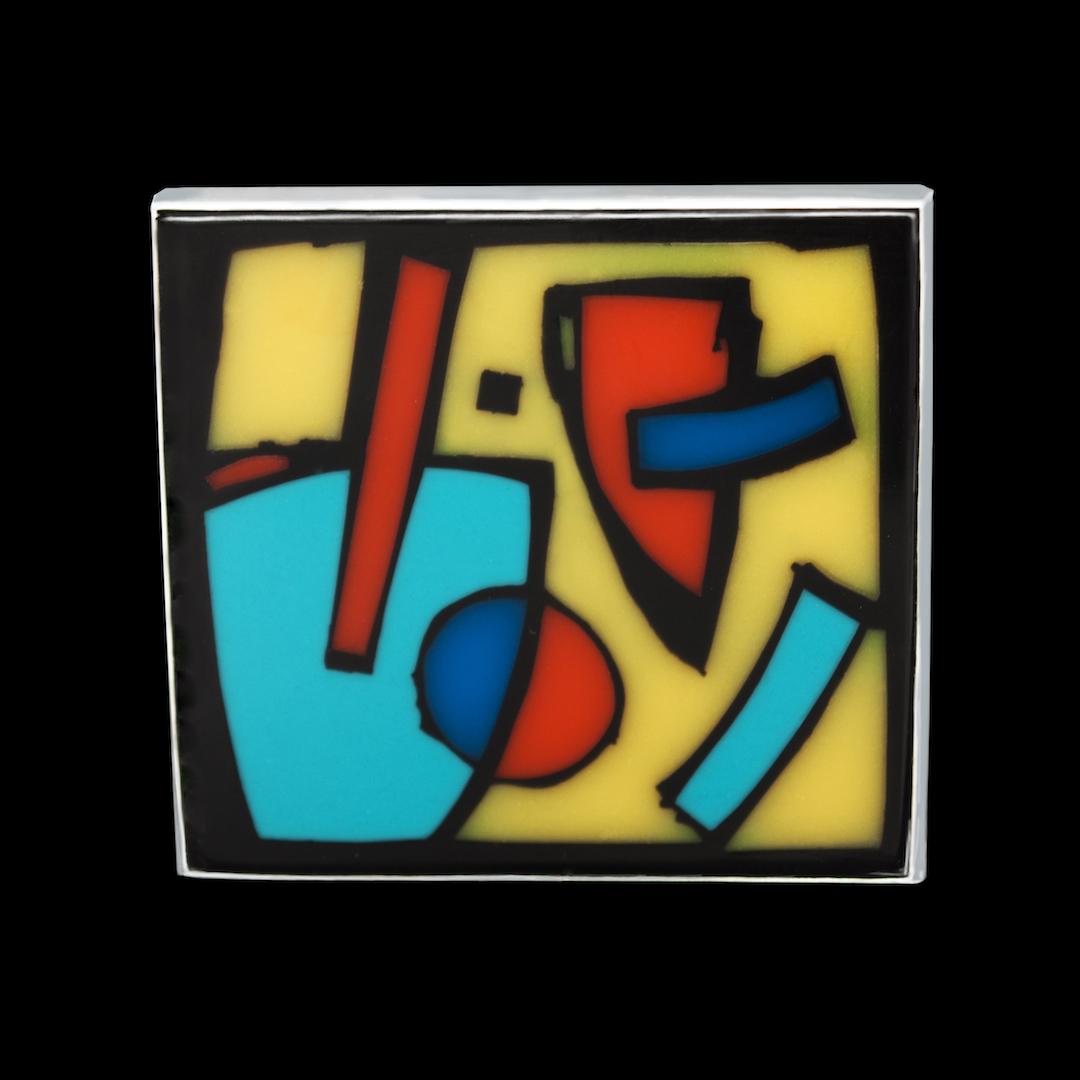 Broche, Petit tableau abstrait 1