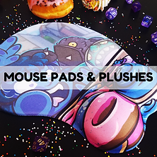 MOUSE PADS AND PLUSHIES BUTTON