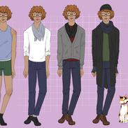 Fashion Study - Ivan (+His Cat Persephon