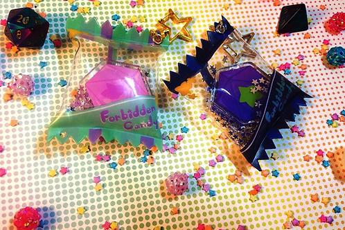 Forbidden Candy - D20 DND Shaker Keychains