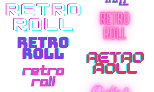 Retro Roll Logo Development