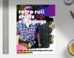 Retro Roll flyer