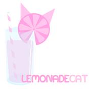 Logo - Lemonade Cat (white bg)