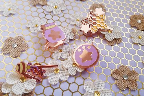Honey Henshin Enamel Pins