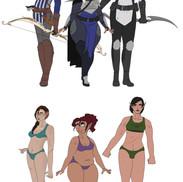 Wardens - Then vs Now Comparison. Fox Mahariel. Viera Surana. Anastasia Tabris.