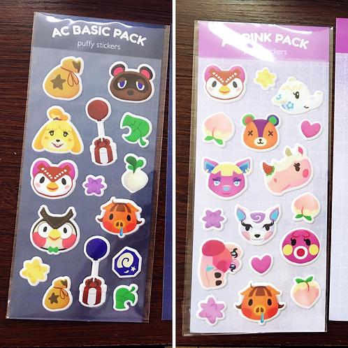 Animal Crossing Puffy Sticker