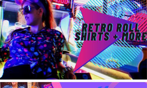 Retro Roll 80s & 90s Digital Promo Graphics