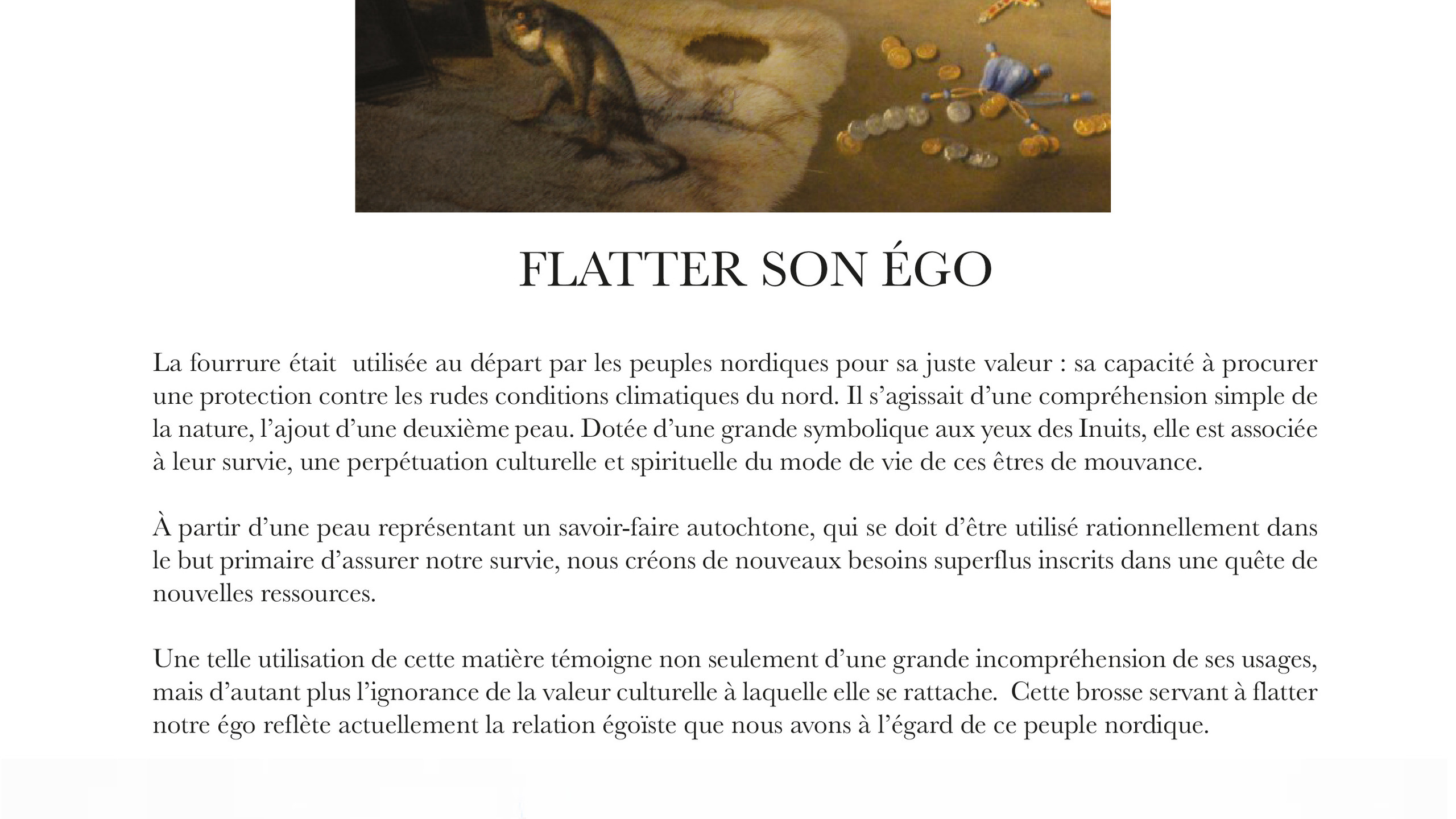 FLATTER SON ÉGO