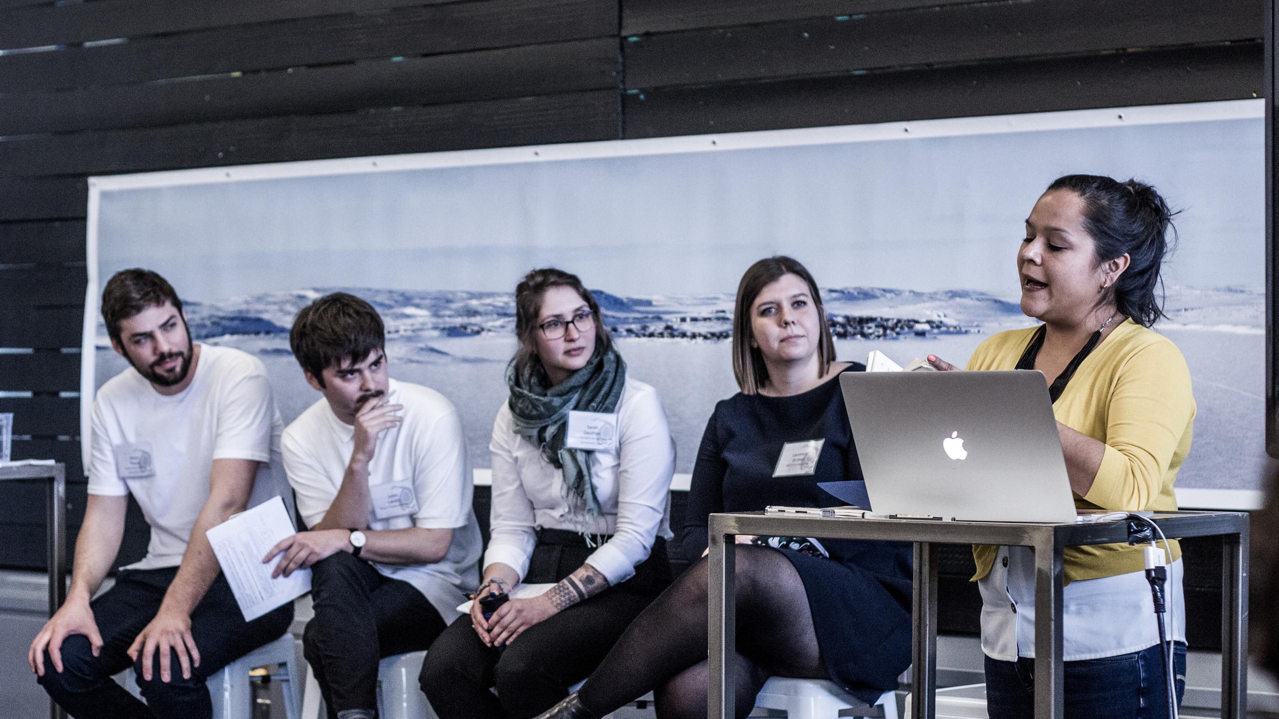 Simon Proulx, Julien Landry, Sarah Gauthier, Laurence St-Jean, Naomi Fontaine