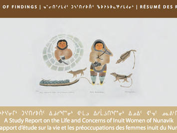 "// Publication of the ""Report on the Life and Concerns of Inuit women in Nunavik"" by Satur"