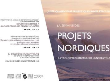 1 au 4 mai 2018 : La semaine des projets nordiques