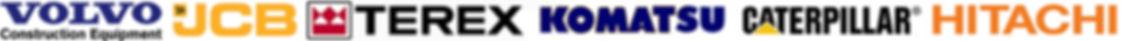 Volvo, JCB, Terex, Komatsu, Cat, Hitachi
