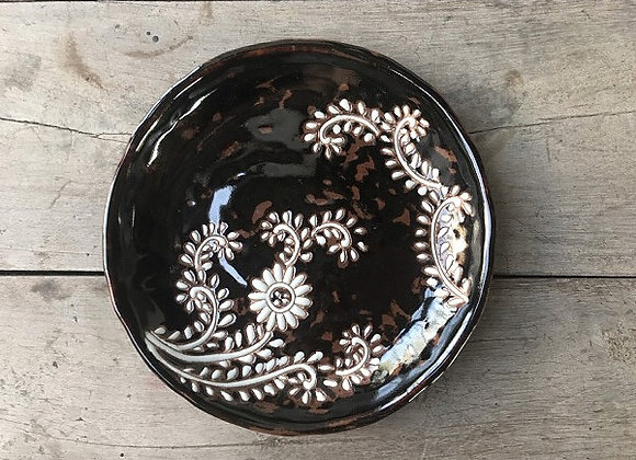 Hand Crafted Flower Plate