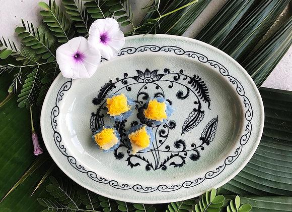 Celadon Lotus Pond Oval Plate