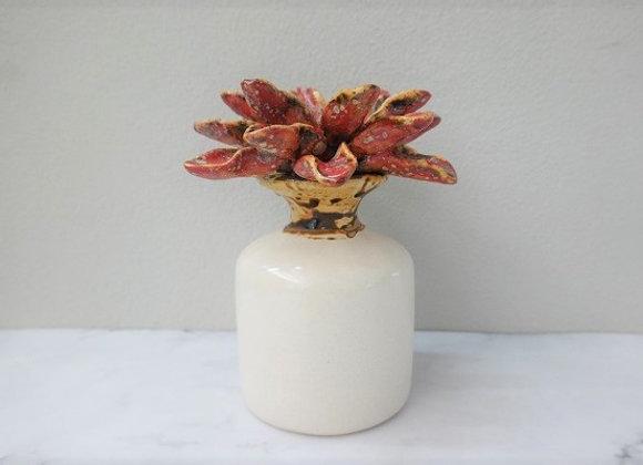 Rain Forest Red Leaves Vase