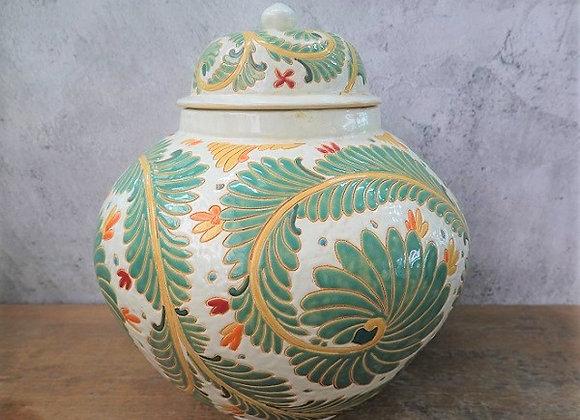Green Fern Jar
