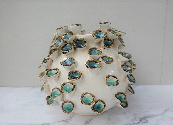 Deep Blue Sea Coral Vase