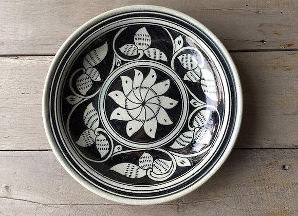 Celadon Plate-Floral