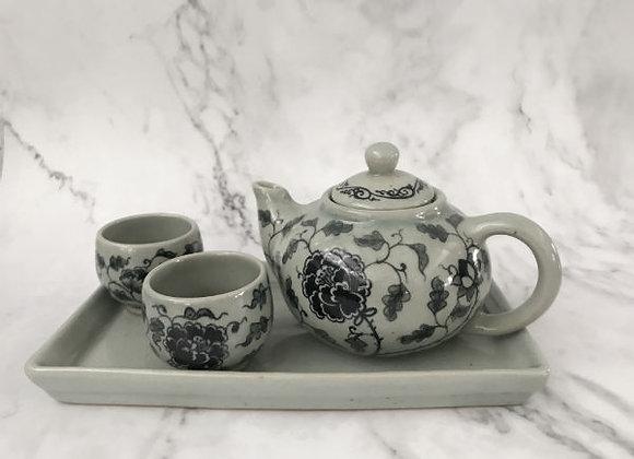 Celadon Peony Tea Set