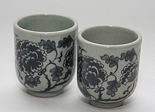 Celadon Peony Tea Cup
